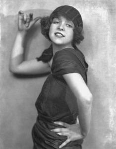 Clara bow, the actress, who didn't pose like a 'lady' for a beauty contest audition, but won