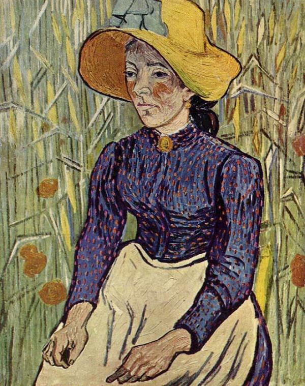 peasant-woman-against-wheat-background