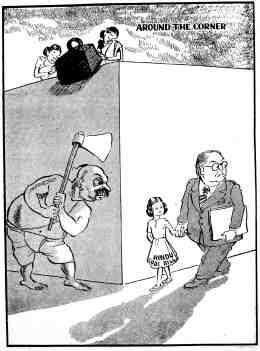 Shankar in 'Shankar's Weekly', December 11, 1949. Ambedkar's favourite little girl, the Hindu Code Bill, is depicted like Hitler's favourite little girl. Courtesy: NMML