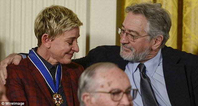 Robert Di Niro Comforting Ellen